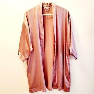 Victoria's Secret short satin robe kimono Sz M/L